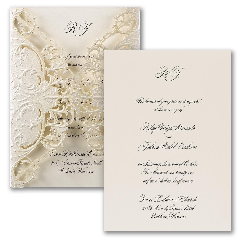 Carlson Craft Pocket Wedding Invitations: » Traditional